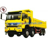 Buy cheap Sinotruk howo 8x4 Golden Prince dumper tipper trucks for sale from wholesalers