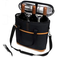 Buy cheap 3 Bottle Wine Carrier Bottle Cooler Tote Bag With Bottle Opener from wholesalers