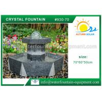 Buy cheap Customized Crystal Ball Fountain , Feng Shui Ball Fountain Black Base Pedestal from wholesalers