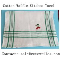 Buy cheap cotton waffle weave bar mop kitchen towels, dish cloths from wholesalers