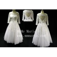 Buy cheap Suitable short country with beadings three quarter wedding dresses BYB-14591 from wholesalers