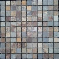 Buy cheap natural culture slate cladding mosaic tile in square shape from wholesalers
