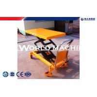 Buy cheap Customized Hand manual lift table Double Scissiors ,  hydraulic lift platform trolleys from wholesalers