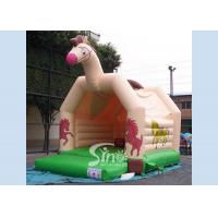 Buy cheap Hot sale outdoor kids horse inflatable bouncy castle made of top 0.55mm pvc tarpaulin from Sino inflatables from wholesalers