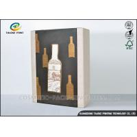 Buy cheap High End Paper Wine Box Gold Hot Stamping Finishing Hardcover Hand Box from wholesalers