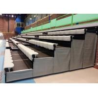 Buy cheap High Density Polyethylene Retractable Bleacher Seating Tailored To Spectator Comfort from wholesalers