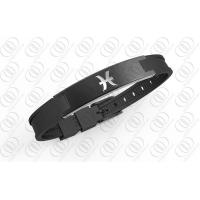 Buy cheap Ionized Silicone Zodiac Stainless Steel Bracelets from wholesalers
