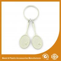 Promotional Badminton Racket Custom Metal Keychains 9mm Length