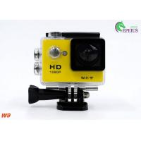 Buy cheap Ultra 1080P HD Gopro Action Camcorder , W9 Wireless Video Camera For Sports Recording  from wholesalers