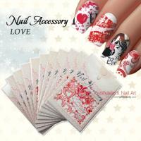 Buy cheap Valentine's Day Watermark Transfers 3D Nail Stickers from wholesalers