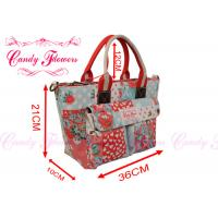 Buy cheap Summer Tote Heart Wind Floral Print Handbags For Women / Ladies / Girls from wholesalers