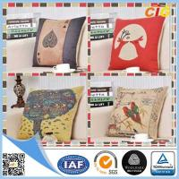 Buy cheap Washable Printed Decorative Soft Pillow Sofa Seat Cushions With Filling product