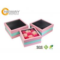 Buy cheap Flower Gift Box Off - White Splendid Retail Gift Flower Paper Box With Clear Window from wholesalers