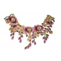 Buy cheap Variegated Ethnic Characteristics Crochet Lace Collar For Lace Ribbon Trim from wholesalers