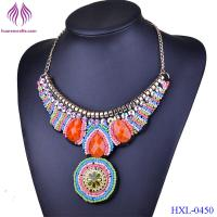 Buy cheap Women Collar Chokers Necklaces Fashion Multicolor Resin Glass Bead Statement Necklace from wholesalers