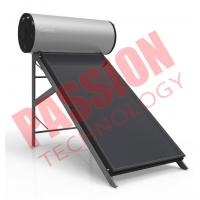 Buy cheap Silver Fluorocarbon Type Flat Plate Solar Water Heater 150 Liter Black Chrome product