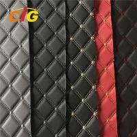 Buy cheap Car Seat Car Floor Embroidery PVC leather with High Density Foam product