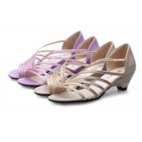 Buy cheap Low Heel Purple Summer Fashion Sandals With PU Straps Hollow Upper Back Counter from wholesalers