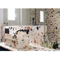 Buy cheap 24x24 Inch Marble Cement Glasses Terrazzo floor Tile product