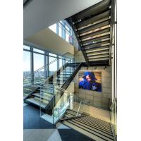 Buy cheap Double Steel Plates Stairs Laminated Tempered Glass Tread Staircase Residential Building from wholesalers