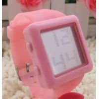 Buy cheap Candy color movement racket line tape watch wristwatch red silica gel wrist watch from wholesalers