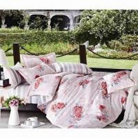 China Silk/Luxury Bedding Sets for Hotel and Home, with Two Pillowcases on sale