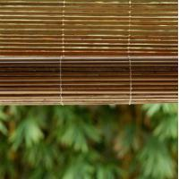 Buy cheap Elegant Outdoor Matchstick Roll Up Blinds Carbonized Color High Flatness from wholesalers