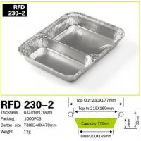 Buy cheap 2 Compartment Aluminum foil container for restaurant fast food kitchen use from wholesalers