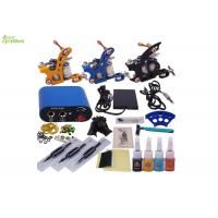 Buy cheap Portable Complete Tattoo Kits For Beginners With 3 Machines 3 Grip 4 Colors from wholesalers