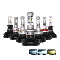 Buy cheap Hot sale h4 h7 car led headlight X3 50W ZES 2nd G light source 9005 9006 led head light from wholesalers