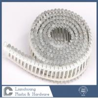 Buy cheap Flat head Plastic collated coil nails , SUS316 Twist Shank Nail 3.33X90MM from wholesalers