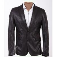 Buy cheap European Classic Fashionable and Trendy, Casual and Black Young Mens Leather Blazers product