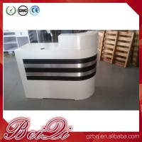 Buy cheap white reception counter supermarket modern checkout counter reception desk beauty salon product