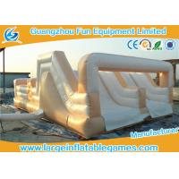 Buy cheap White Double Trouble Inflatable Obstacle Course For Adults Rental Outdoor Extreme Sport Games from wholesalers