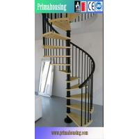 Buy cheap Used Wrought Iron Spiral Stairs With Solid Wood Treads from wholesalers
