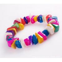 Buy cheap Shell crafts shell bracelet color stone bracelets from wholesalers