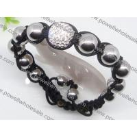 Buy cheap Competitive price and high quality white stone Shamballa beaded bracelets 1760006 from wholesalers