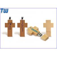 Buy cheap Personal Key Chain Cross 64GB USB Disk Stick Natural Maple Wood from wholesalers