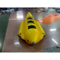 Buy cheap Yellow And Black Inflatable Small Banana Boat For 3 People , Inflatable Water Games from wholesalers