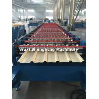 Buy cheap Coated Sheet Steel Cold Roll Forming Machine With Touch Screen PLC Frequency Control from wholesalers