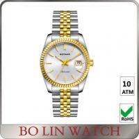 Buy cheap 5 ATM Water Resistant Real Gold Diamond Watches , Vintage Ladies 18 Karat Rose Gold Watch from wholesalers