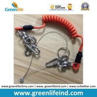 Buy cheap Good Strong Carabiner Lock Coiled Lanyard Tether Protect Tools from wholesalers