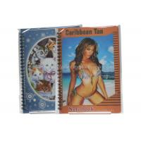 Buy cheap Sexy Girl Design Notebook 3D Lenticular Printing Service Journals PET / PP / PVC Lentiuclar from wholesalers
