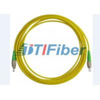 Buy cheap FC/APC-FC/APC Fiber Optic Patch Cord Simplex 3.0mm PVC Yellow Jacket from wholesalers