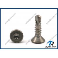 Buy cheap 304/316/18-8/410 Stainless Steel Hex Socket Flat Head Self-drilling Tek Screws from wholesalers