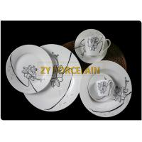 Size Costum 30 Piece Round Dinnerware Sets With Cup And Saucer For Home Usage