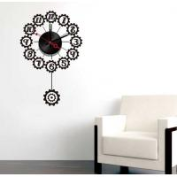 Buy cheap Black Design Vinyl Wall Sticker Clock 10A066 Numbers Wall Decoration from wholesalers