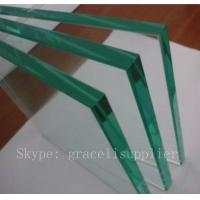 Buy cheap 8mm 10mm 12mm cut to size strengthened glass with bright polished edge from wholesalers