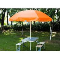 Buy cheap Steel Frame Outside Patio Table Umbrella , Stand Alone Parasol For Garden from wholesalers