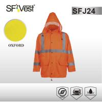 Buy cheap Customized Color high visibility jackets waterproof safety parka with detachable hood ANSI ISEA 107-2010 product